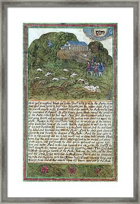 Noah Leaving The Ark, 1608 Framed Print