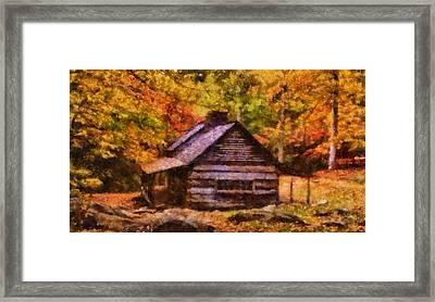 Noah Ogle Barn In Autumn Framed Print by Dan Sproul
