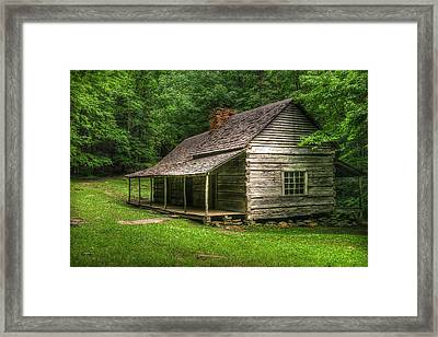 Noah Ogle Cabin Framed Print by Cindy Haggerty
