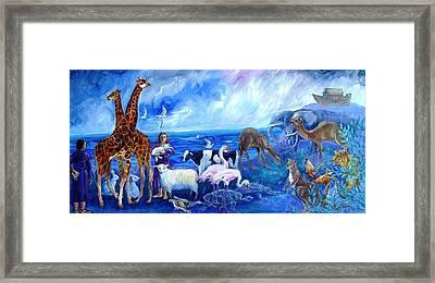 Noahs Ark - After The Flood  Framed Print by Trudi Doyle