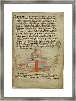 Noah's Ark And The Raven Framed Print by British Library