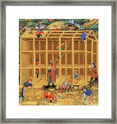 Noahs Ark Construction, 15th Century Framed Print by Photo Researchers