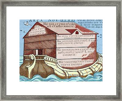 Noah's Ark, From The Book 'de Linguis Framed Print by Prisma Archivo