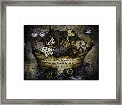 Noah's Ark Framed Print by La Rae  Roberts