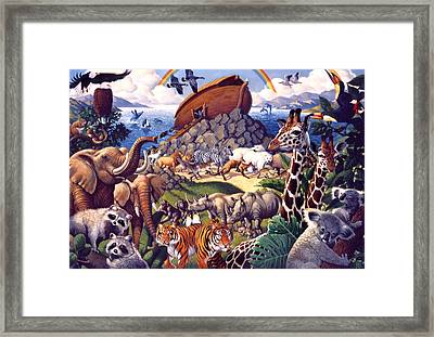 Framed Print featuring the painting Noah's Ark by Mia Tavonatti