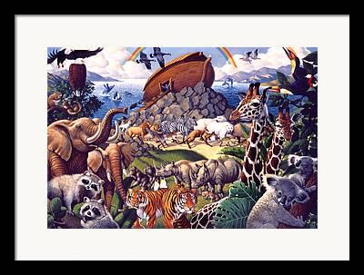 Playful Animals Framed Prints