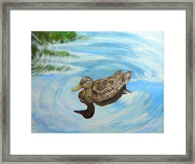Framed Print featuring the painting Noah's Duck by Sandra Nardone