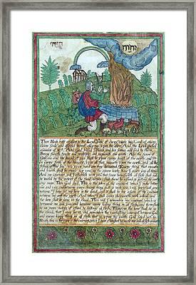 Noahs Sacrifice And Covenant, 1608 Framed Print