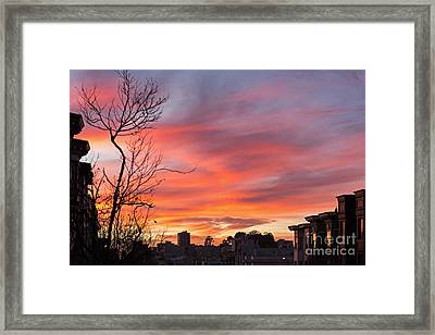 Nob Hill Sunset Framed Print