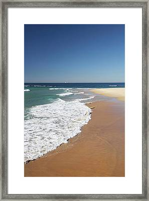 Nobbys Beach, Newcastle, New South Framed Print