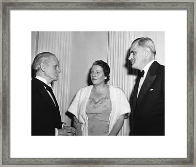 Nobel Prize Winners Framed Print by Underwood Archives