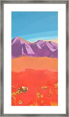Noble Beast - Panel 1 Framed Print by Joyce Small