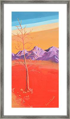 Noble Beast - Panel 3 Framed Print by Joyce Small