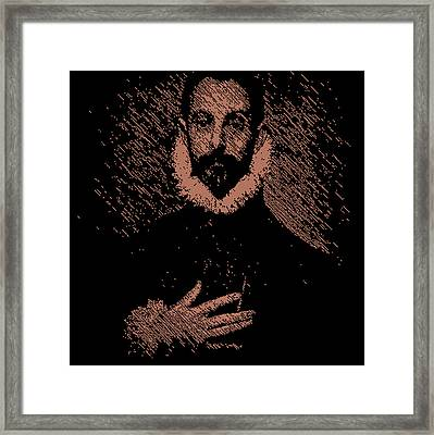 Noble Man With His Hand On His Chest Framed Print by Chris Lopez