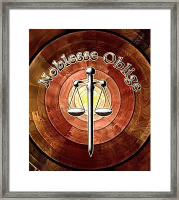 Noblesse Oblige Framed Print by Anastasiya Malakhova