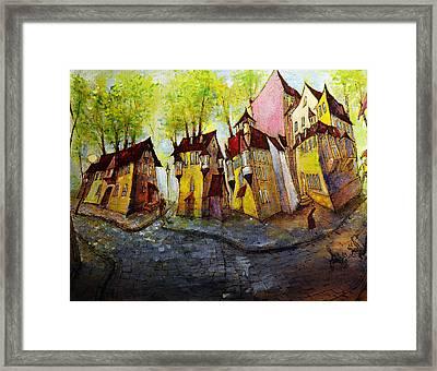 Nobody Knows That My House Flies Framed Print by Oleg  Poberezhnyi