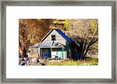 Framed Print featuring the photograph Nobody's Home by Jackie Carpenter