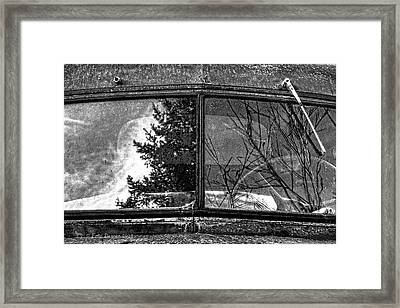 Nobody's Truck Windshield Framed Print