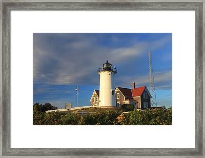 Nobska Lighthouse Cape Cod Framed Print by John Burk