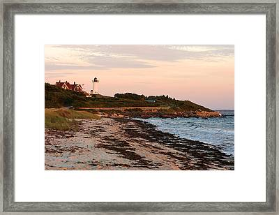 Nobska Lighthouse Framed Print by Gail Maloney