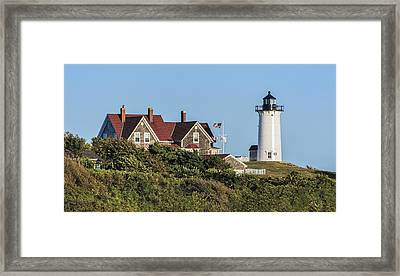 Nobska Lighthouse Woods Hole Cape Cod Ma Framed Print by Marianne Campolongo