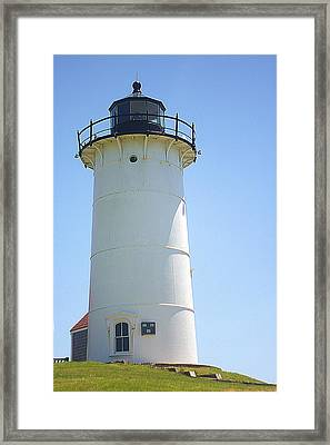Framed Print featuring the photograph Nobska Point Lighthouse Ma by Suzanne Powers