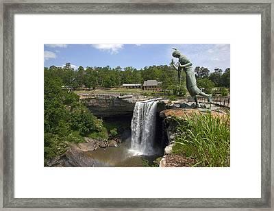 Noccalula Falls In Gadsden Framed Print by Carol M Highsmith