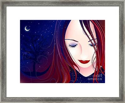 Nocturn II Framed Print by Sandra Hoefer