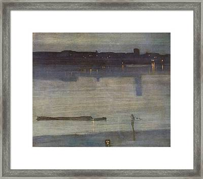 Nocturne In Blue And Green Framed Print
