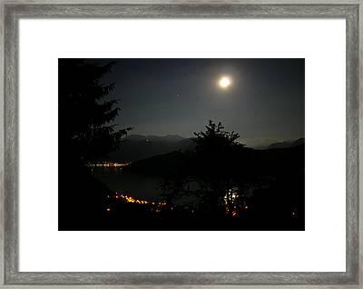 Nocturne In Switzerland Framed Print