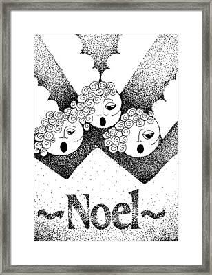 Noel Angels Framed Print by Joy Bradley