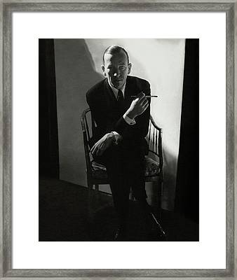 Noel Coward Smoking Framed Print