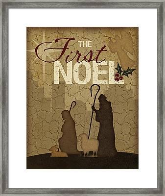 Noel Shepherds Framed Print by Jennifer Pugh