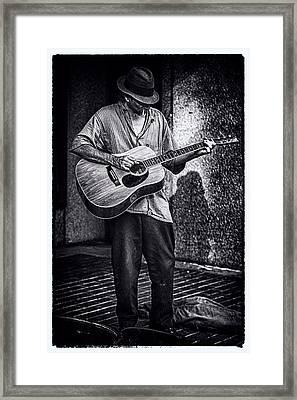 Noir Guitar Framed Print by John Haldane