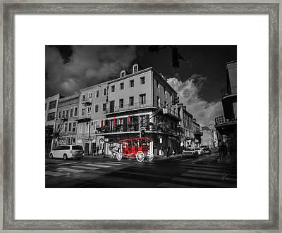 Nola - French Quarter 003 Ck Framed Print by Lance Vaughn