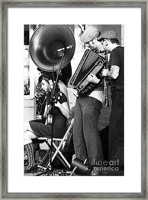 Nola Performing Framed Print by John Rizzuto