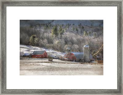 Nolan Farm - Vermont Farm Framed Print by Joann Vitali