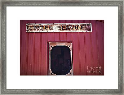 Noles Service Old Sign Framed Print by JW Hanley