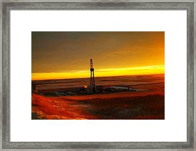 Nomac Drilling Keene North Dakota Framed Print