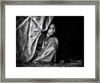 Nomadic South Indian Girl  Framed Print by Tim Gainey