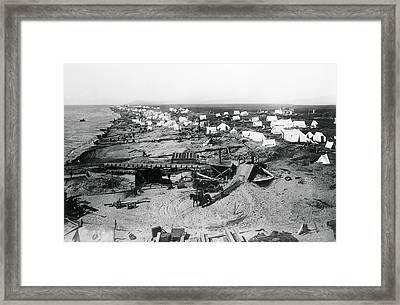 Nome Alaska Gold Rush 1900 Framed Print by Daniel Hagerman