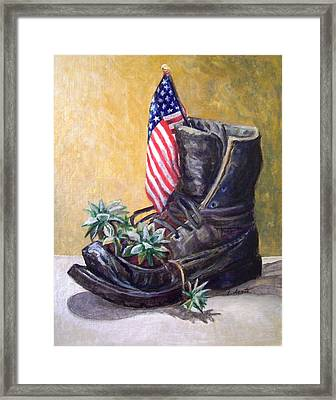 Non-combat Boot Framed Print