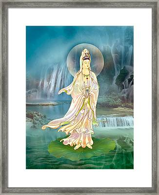 Non-dual Kuan Yin Framed Print by Lanjee Chee