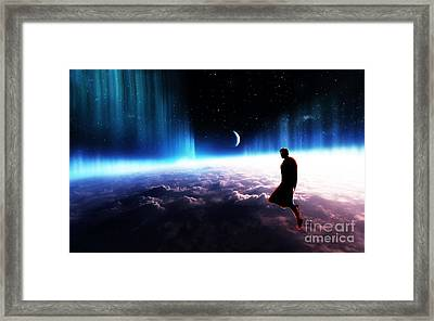 Non Est Ad Astra Mollis E Terris Via Framed Print by The DigArtisT