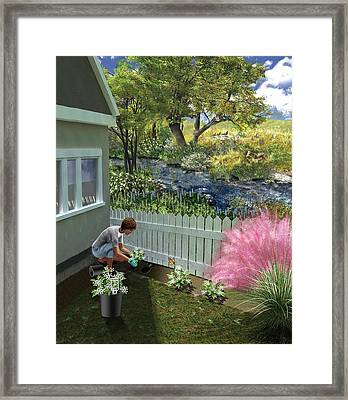 Non-invasive Garden Plants Framed Print