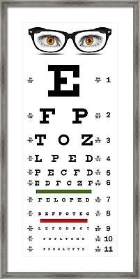 Non-traditional Eye Chart Framed Print
