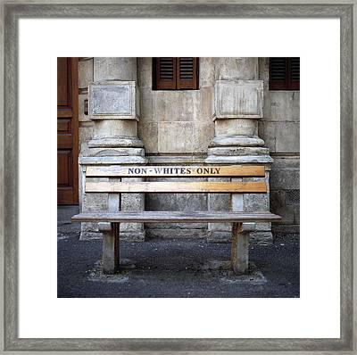 Non Whites Only Framed Print by Shaun Higson