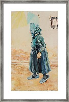 Framed Print featuring the painting Forenza Vita Nonna Filomena by Giovanni Caputo