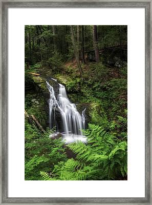 Nonnewaug Falls Framed Print