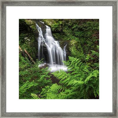 Nonnewaug Falls Square Framed Print by Bill Wakeley